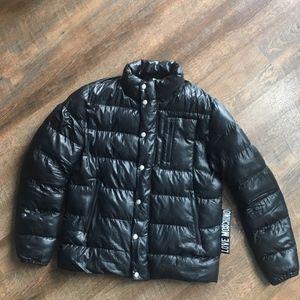 Moschino Black Puffer Bubble Coat